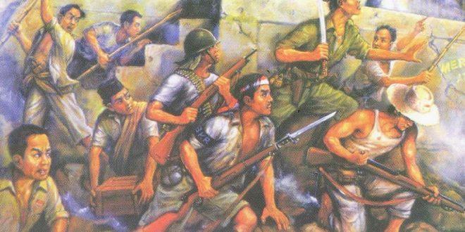 lukisan perjuangan 10 nopember 1945 karya m sochieb