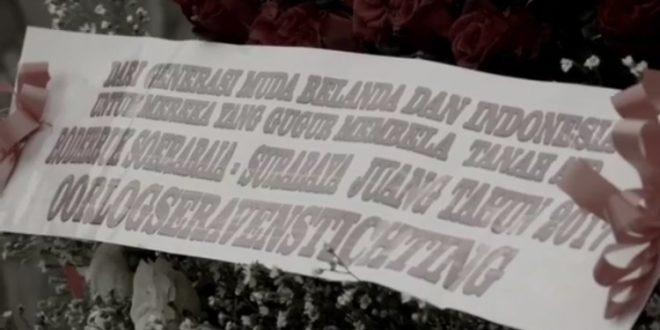 [VIDEO] Tabur Bunga Mawar Merah dan Putih Oleh Warga Belanda Pada Makam-makam Pahlawan Tak Dikenal