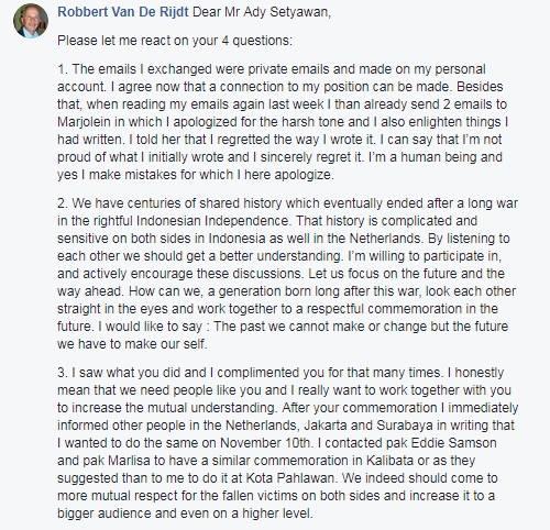 Robbert Van De Rijdt Open Letter Response
